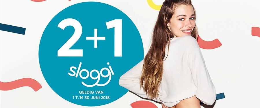 Sloggi 2+1 gratis geldig tm 30 juni!